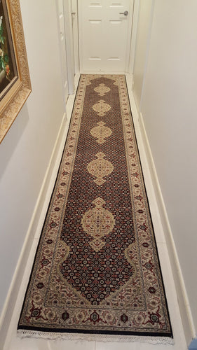 Persian Fish Design Runner Rug Handmade