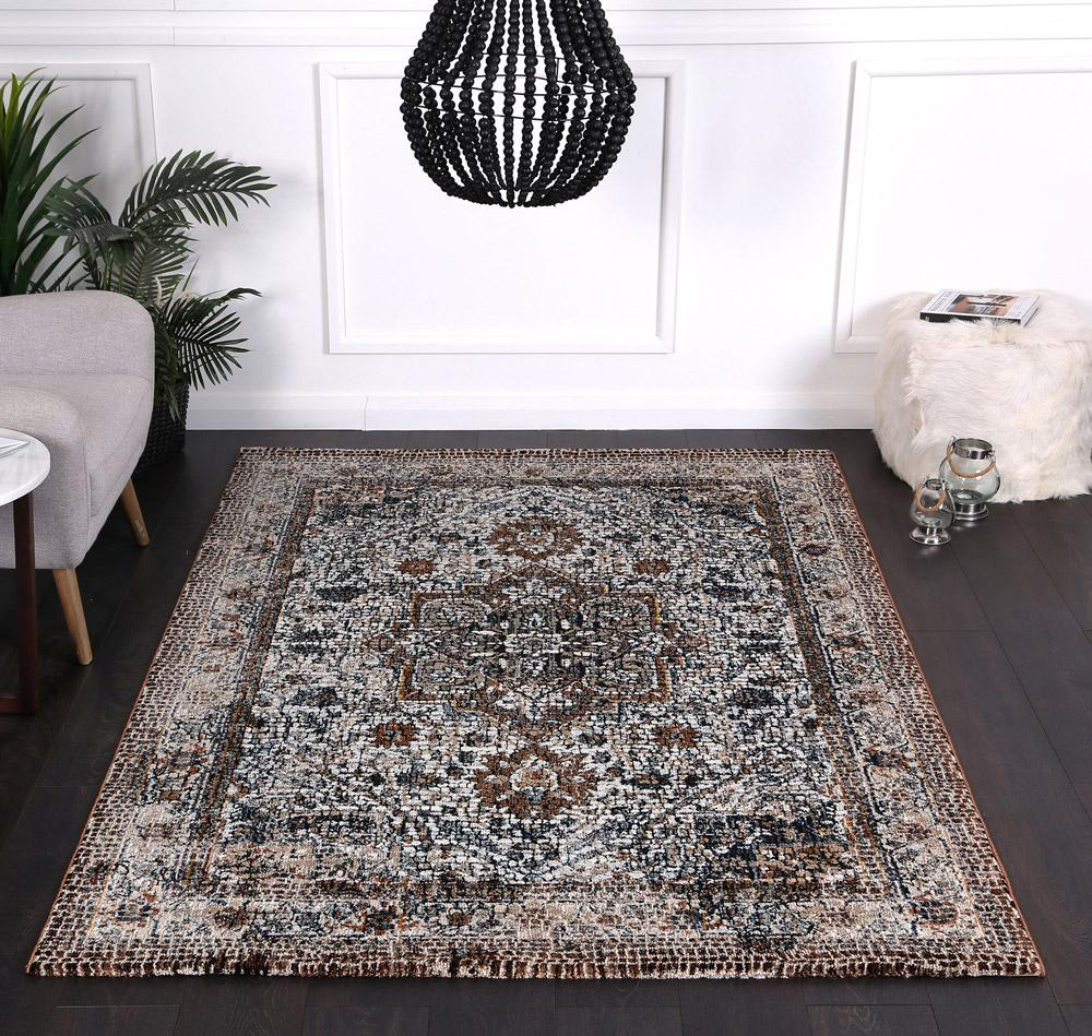 Montage Classic Grey Brown Rug