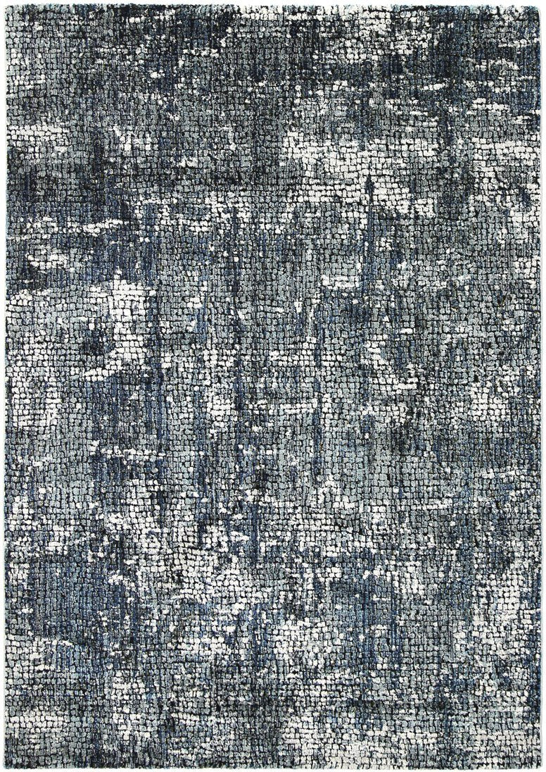 Montage Solid Grey Turquoise Rug