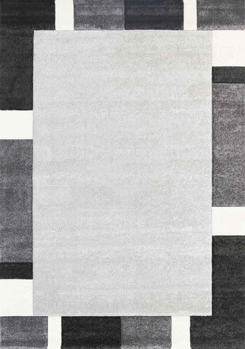 Fuonicusart Simple Boarder Grey Rug