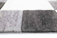 Fuonicusart Modern Squares  Grey Rug