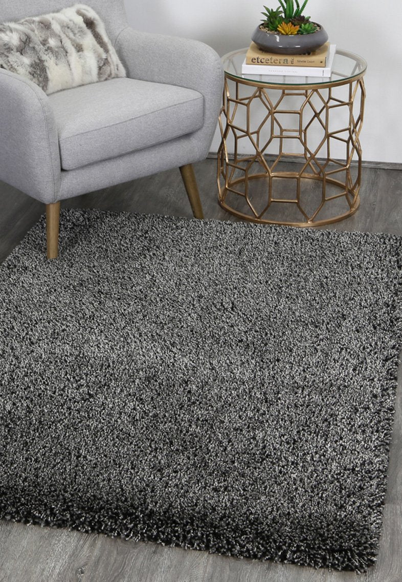UNIArctic  Plush Charcoal Anthracite Shaggy Rug