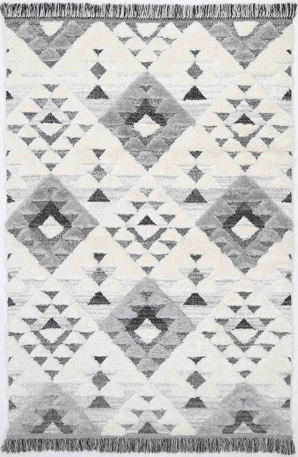 Smut Tribal Diamond Cream Grey Rug