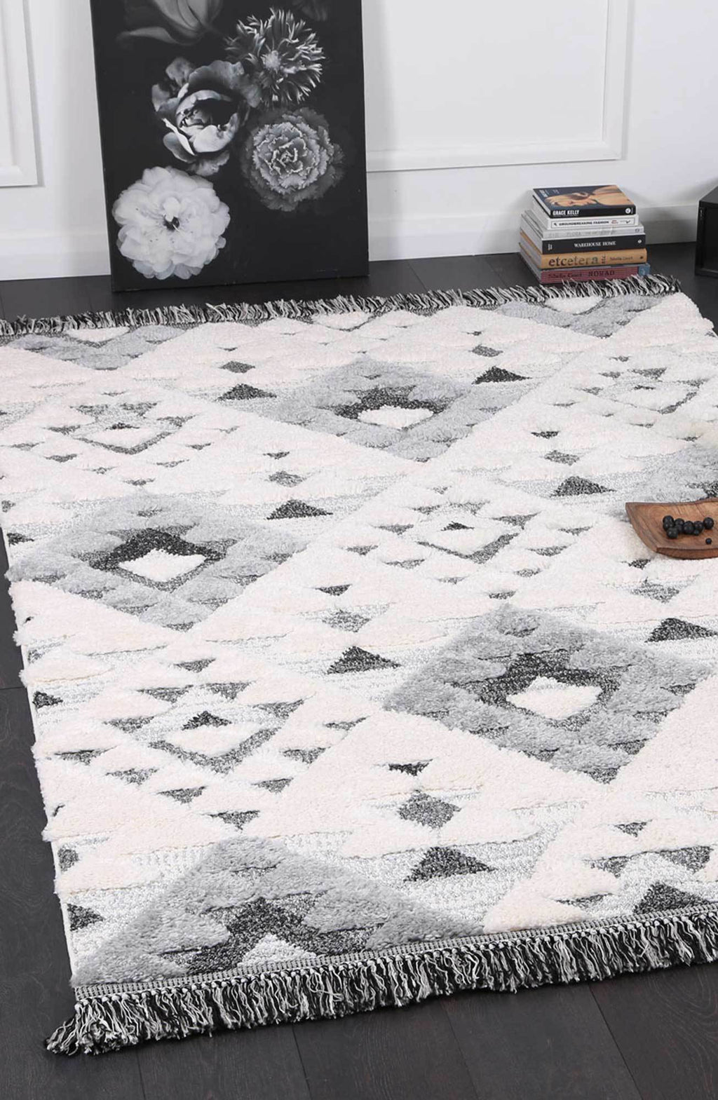 Moroccan Cream Grey Rug