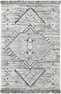 Smut Tribal Tek Cream Grey Rug