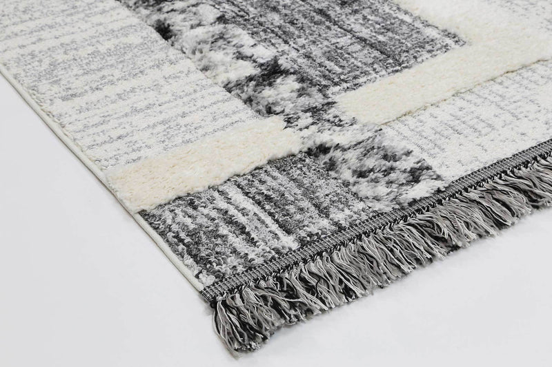 Smut Tribal Modern Cream Rug