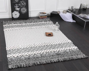 Smut Tribal Edge Cream Rug