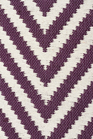 Modern Flatweave Chevron Design Purple Rug