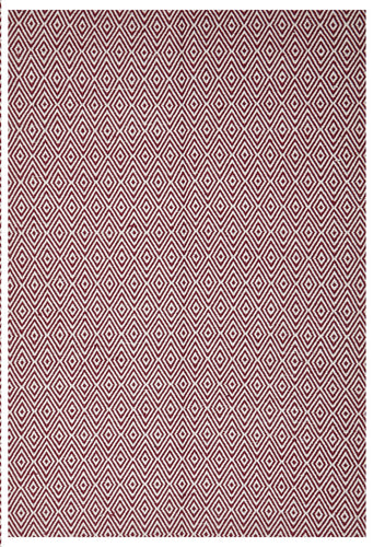 Modern Flatweave Diamond Design Red Rug