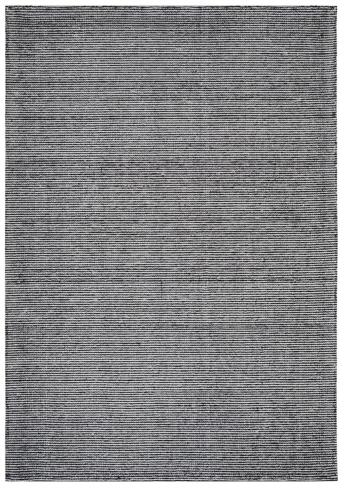 Cloud Black Cotton Rayon Rug