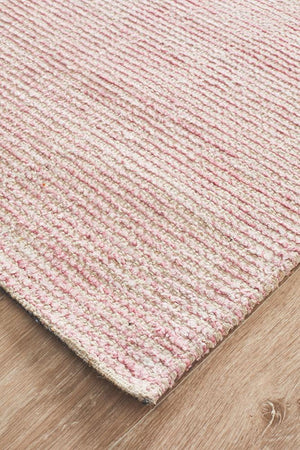 Cloud Rose Cotton Rayon Rug