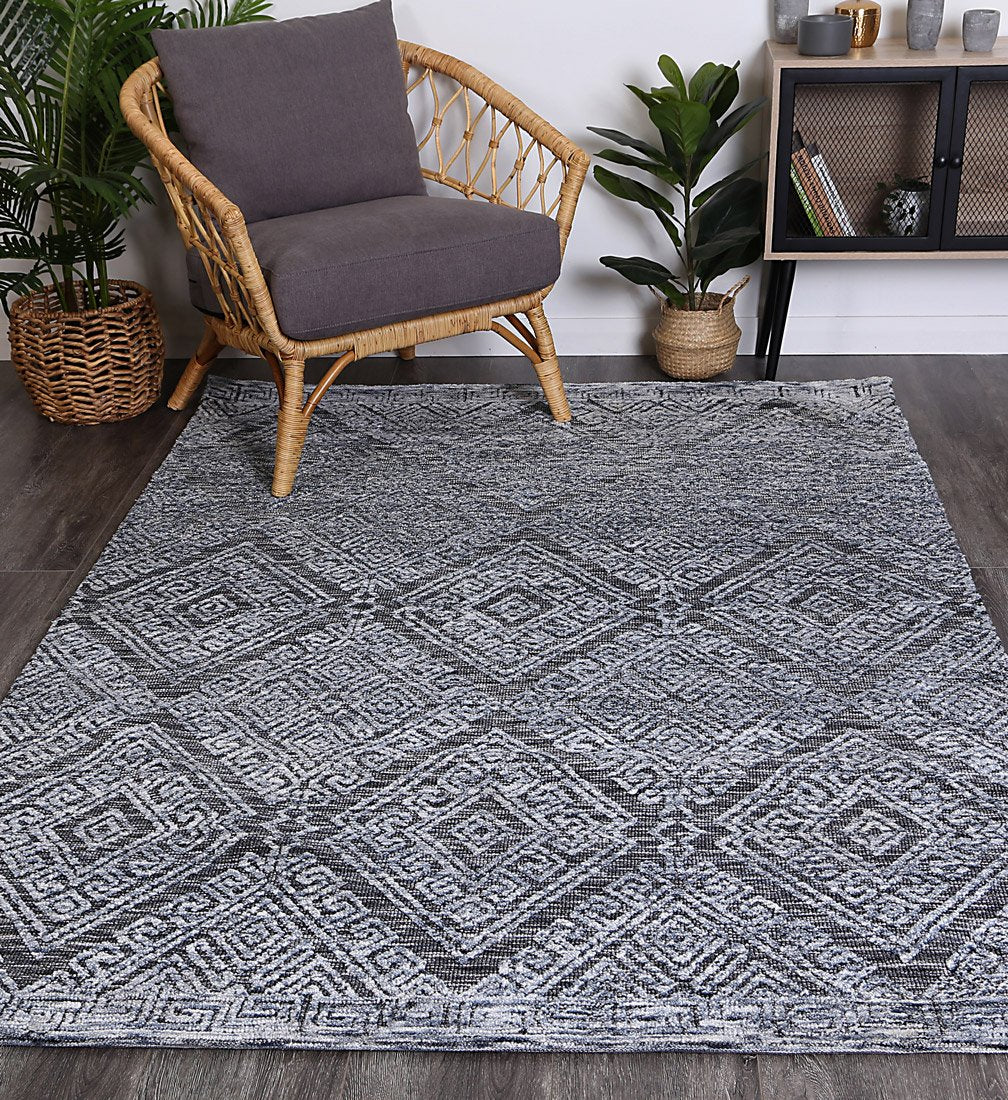 Alayah Diamond Denim Rug