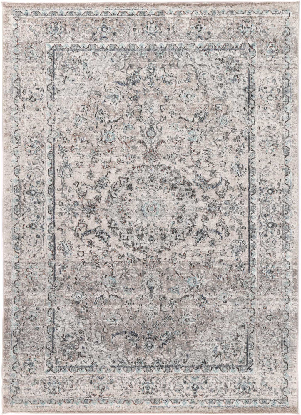 Ezra Grey Traditional Rug