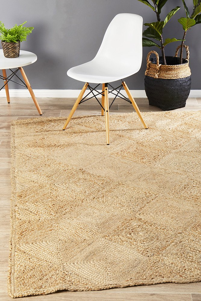 Chunky Hatch Natural Rug