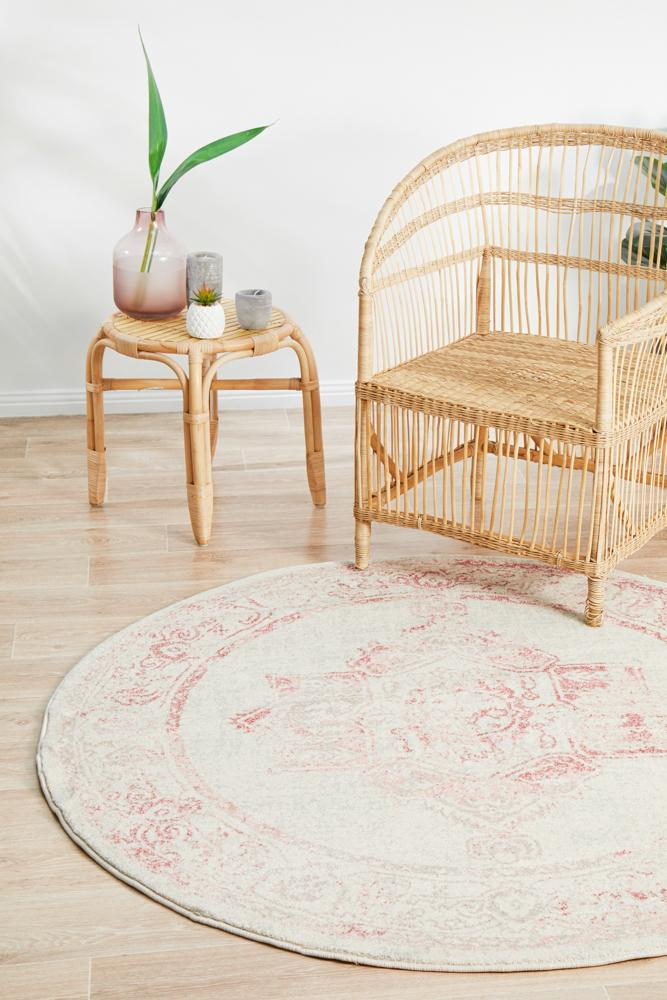Avenue Passage Rose Round Rug