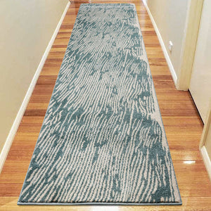 Praise Water Blue Runner Rug