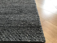 Alpha Arunirow Dark Grey Stripe Rug