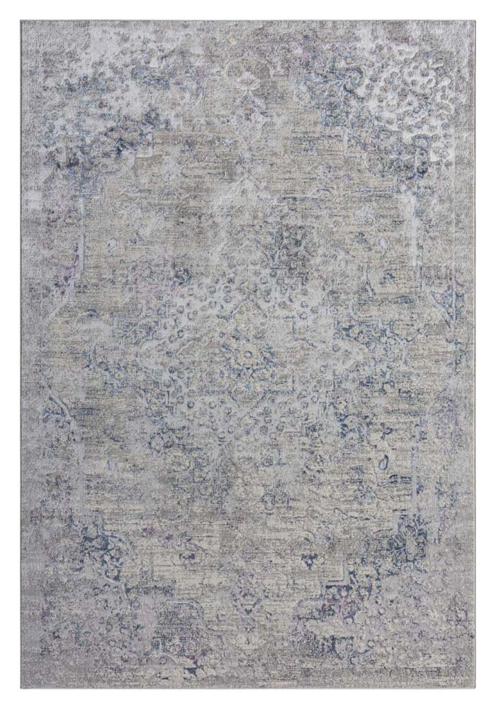 Achromatic Plantation Purple Blue Rug