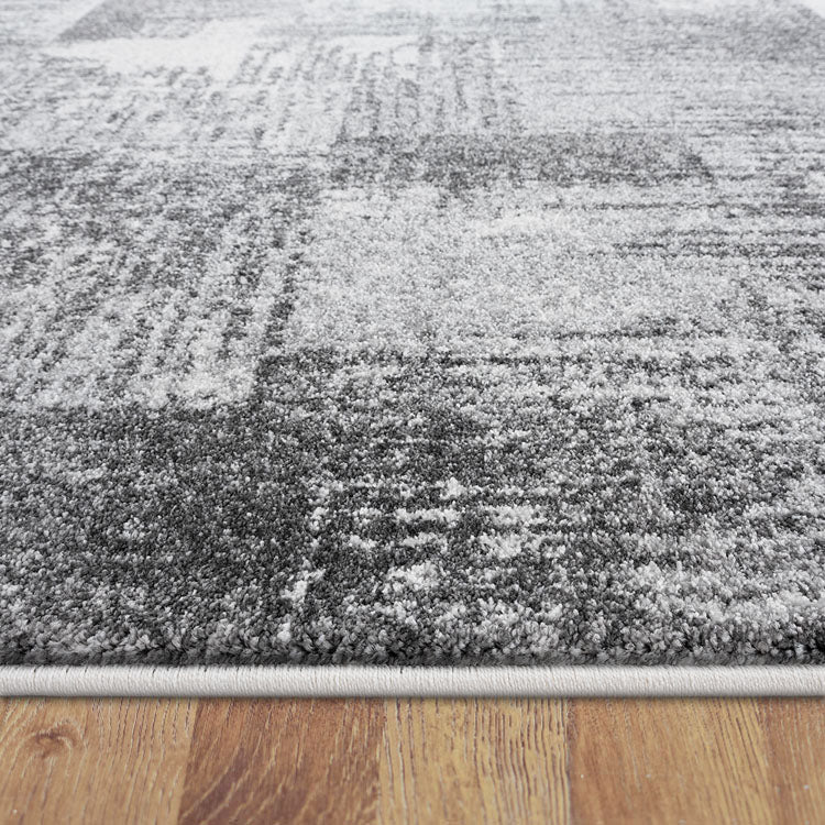 Brave Gallant Grey Runner Rug