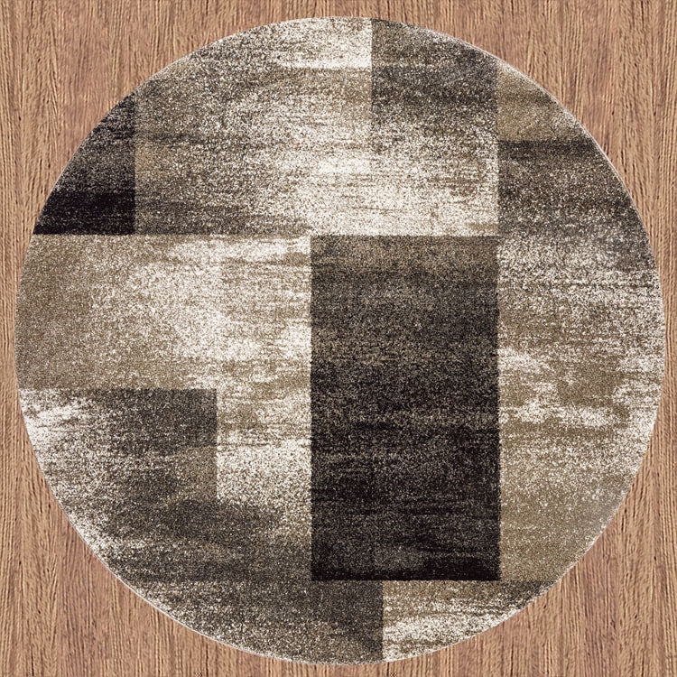 Brave Valiant Ash Brown Round Rug