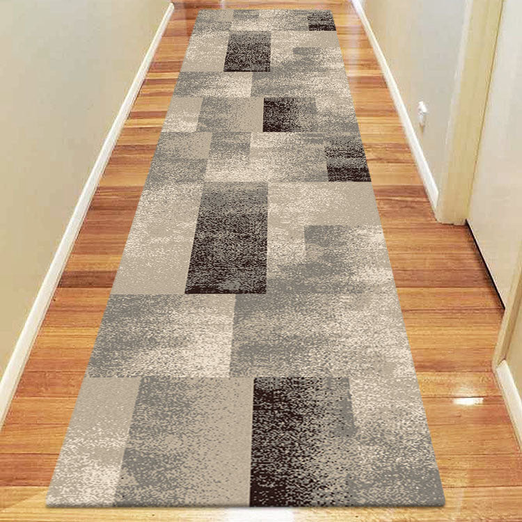 Brave Valiant Ash Brown Runner Rug