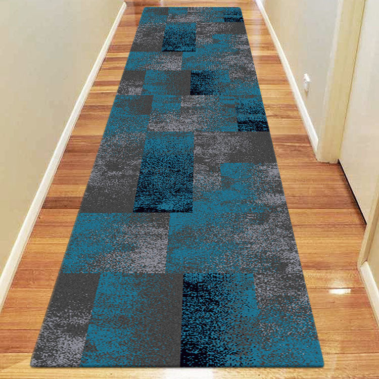 Brave Valiant Blue Runner Rug