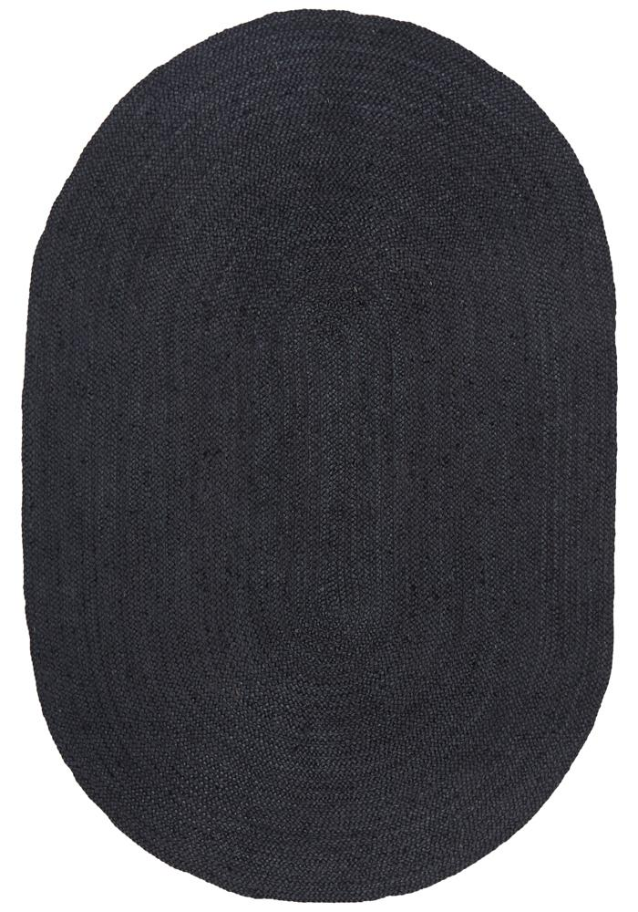 Perky Black Oval Rug