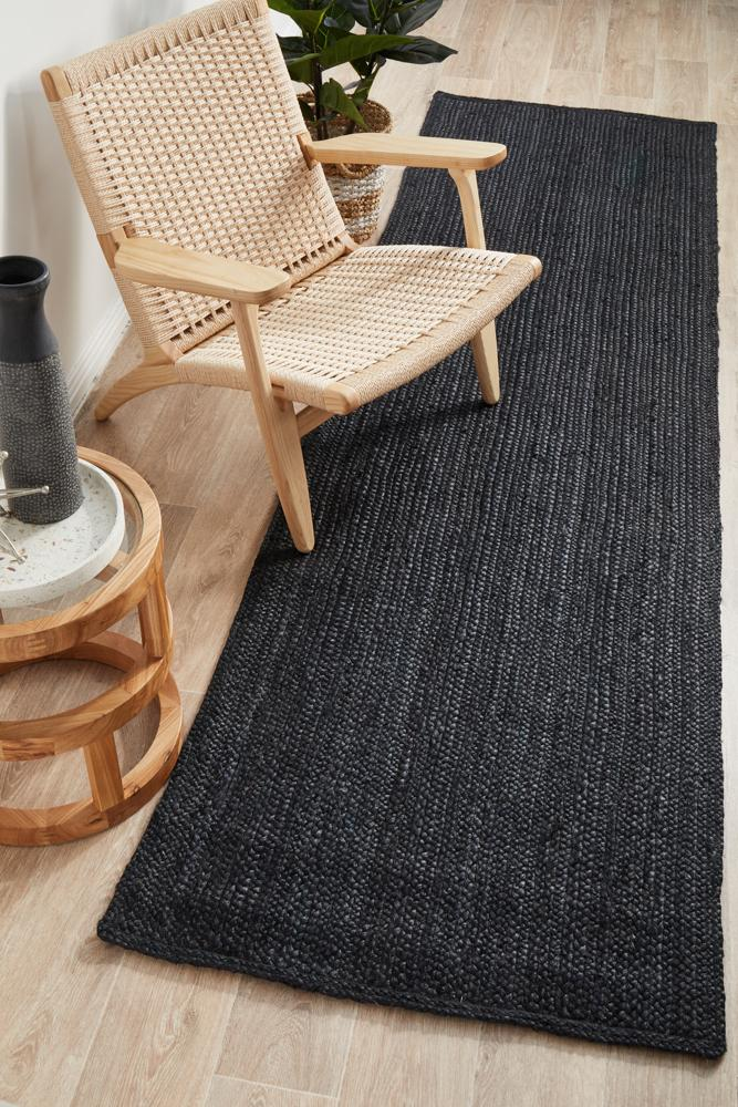 Perky Black Runner Rug