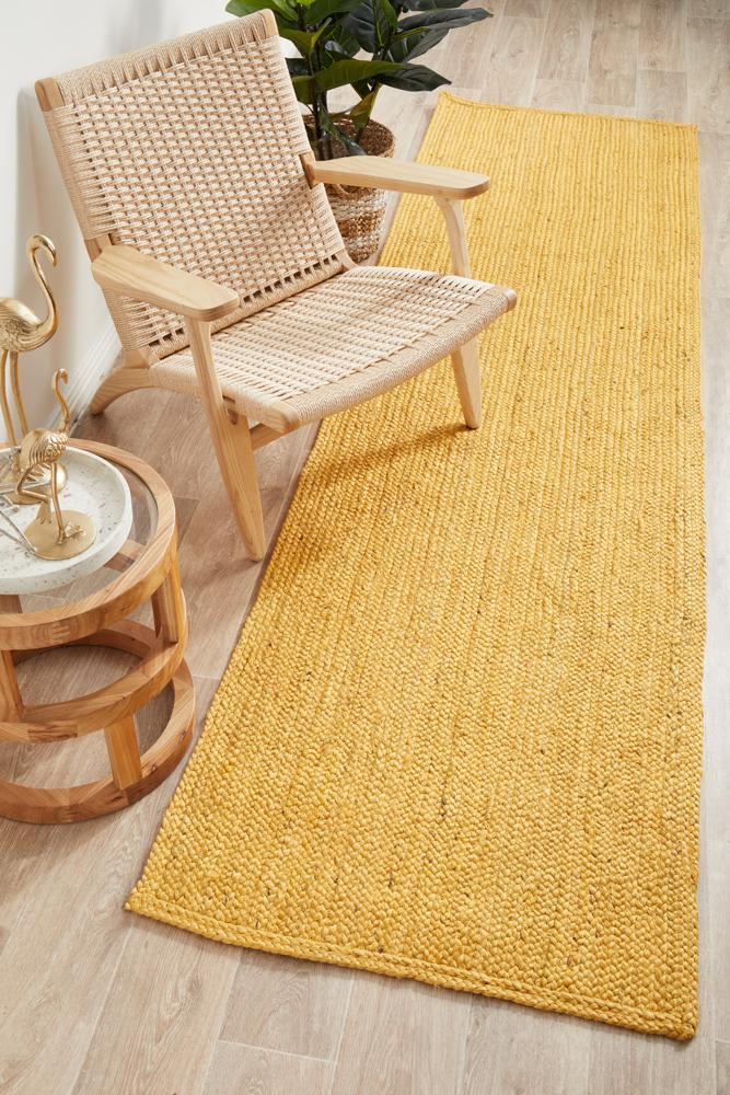 Perky Yellow Runner Rug