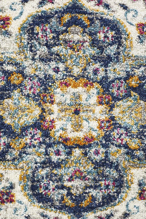 Eclectic TwoOTwo Runner Blue Rug