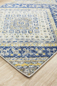 Eclectic TwoOThree Navy Runner Rug