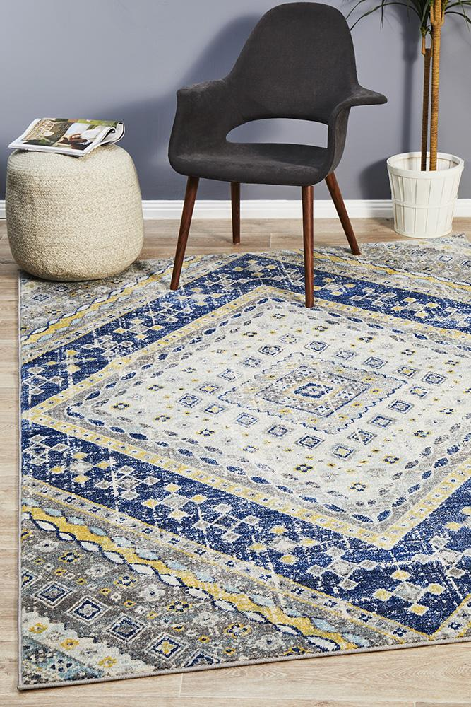 Eclectic TwoOThree Navy Rug