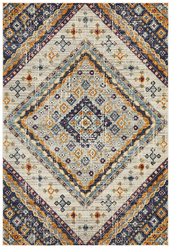 Eclectic TwoOThree White Rug