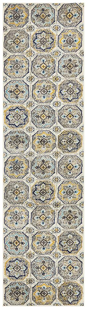 Eclectic TwoOFour Blue Runner Rug