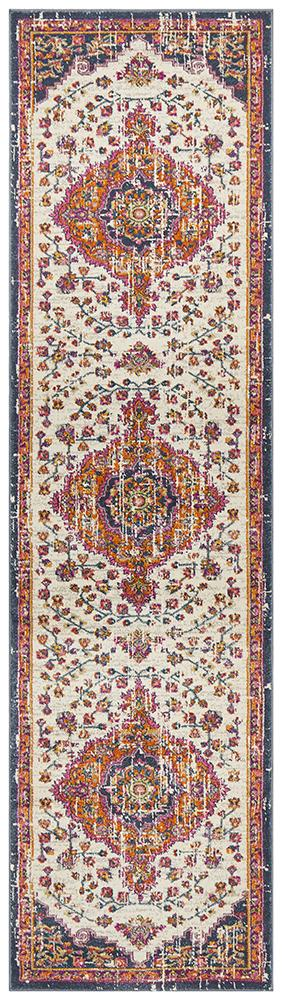 Eclectic TwoOFive White Runner Rug