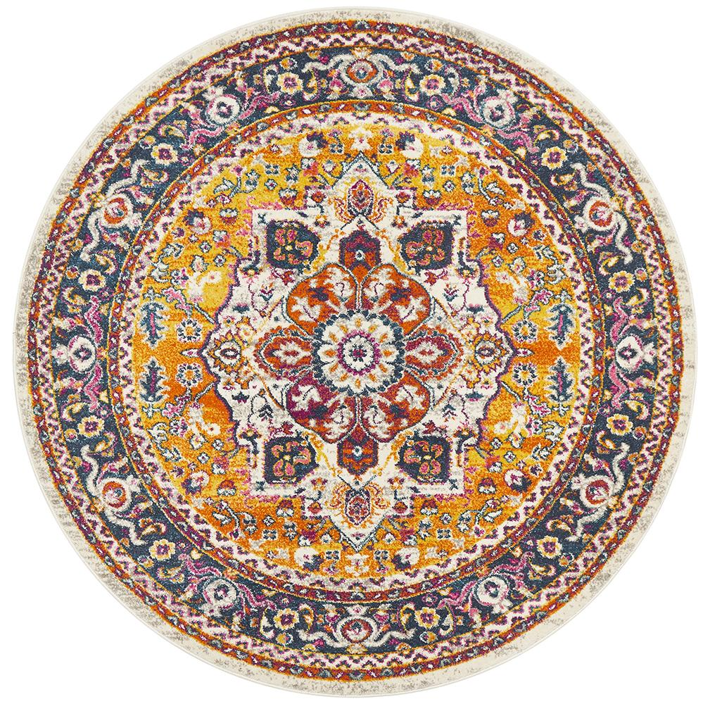 Eclectic TwoOSeven Multi Round Rug