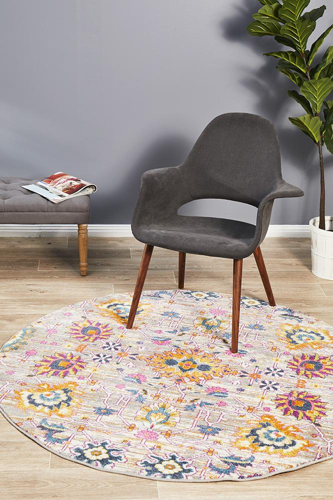 Eclectic TwoOneO Multi Round Rug