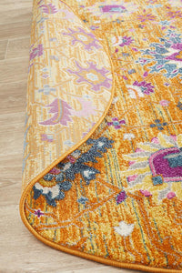 Eclectic TwoOneO Rust  Round Rug