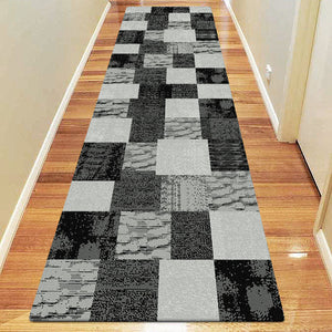 Beantown Patch Black Runner Rug