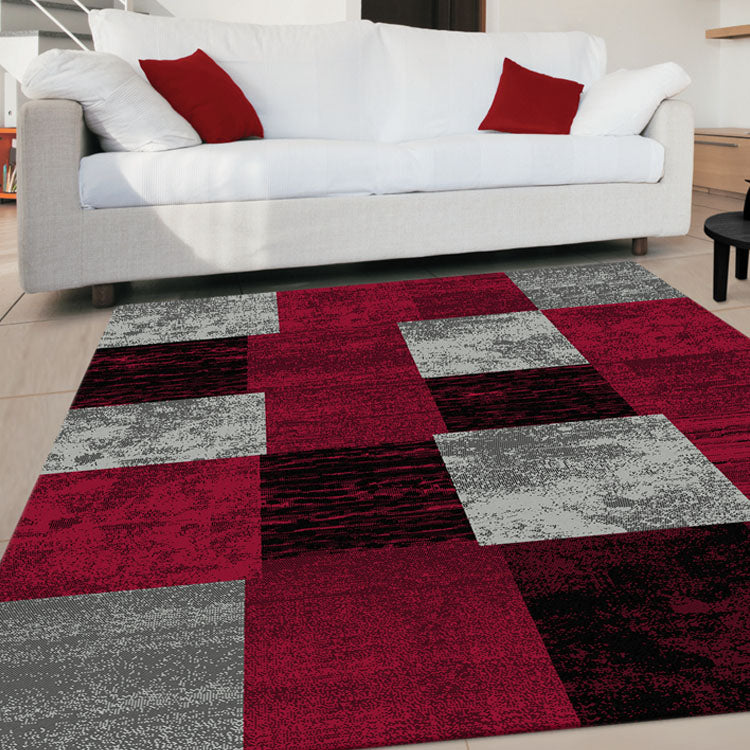 Beantown Patch Red Rug