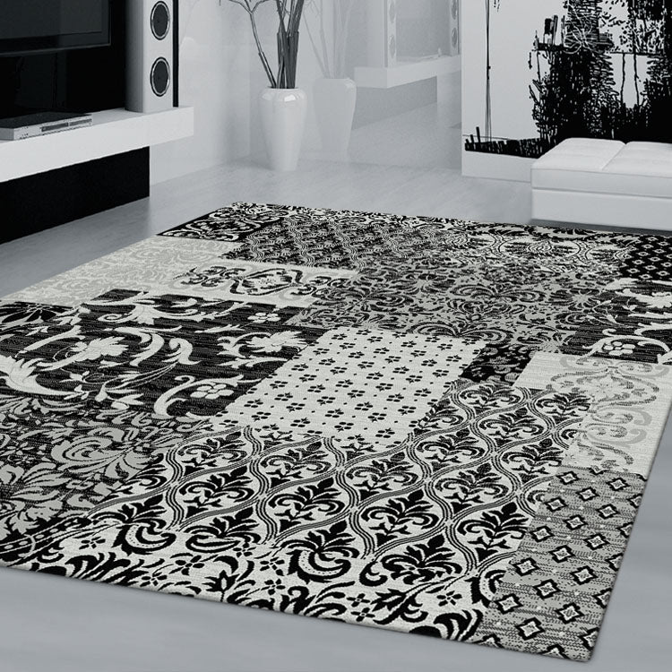 Beantown Floral Grey Rug