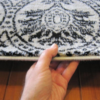Beantown Floral Grey Runner Rug