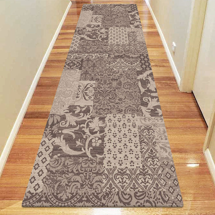 Beantown Floral Brown Runner Rug