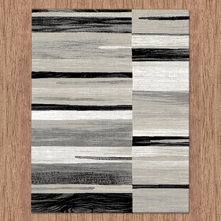 Beantown Line Grey Rug