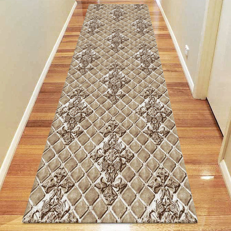 Beantown Diamond Beige Runner Rug