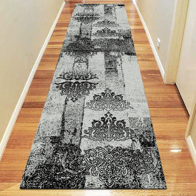 Boston Collection 6968 Grey Runner Rug