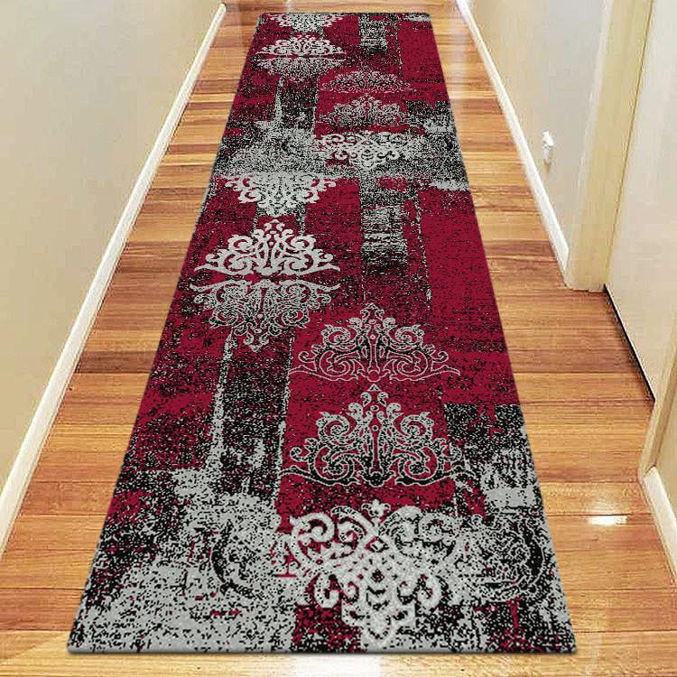 Boston Collection 6968 Red Runner Rug