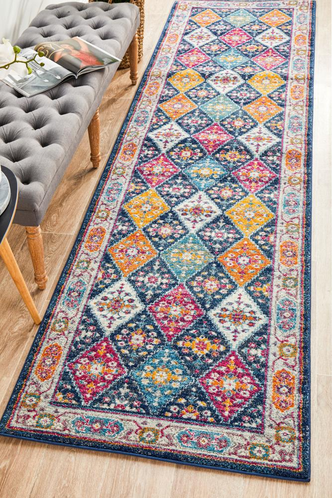 modern designs fuse with classic beauty Navy Rugs