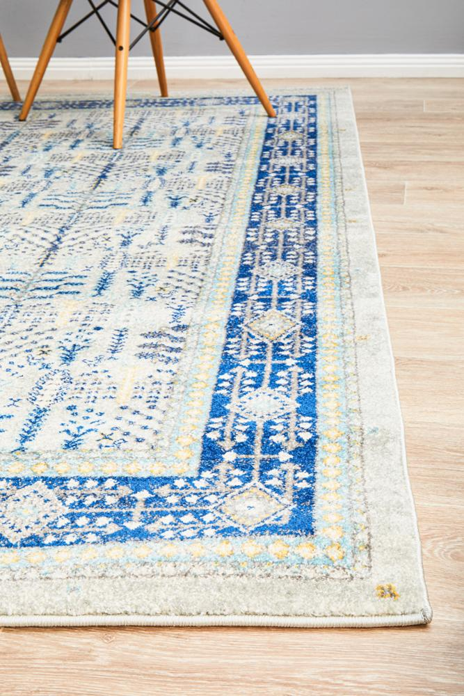 modern designs fuse with classic beauty blue Rugs