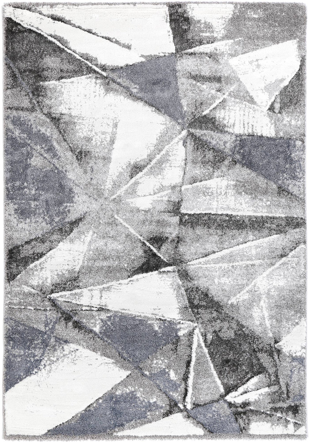 Yuzil Multi Triangle Abstract Rug